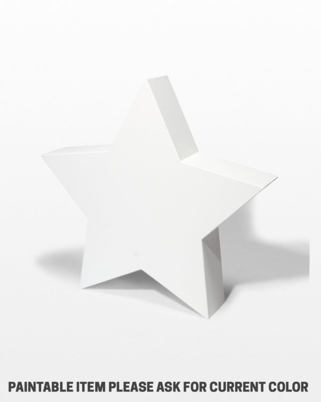 "Front view of Paintable 40"" Wood Star Shape"