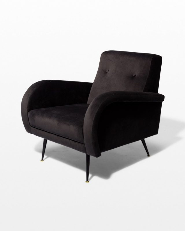 Front view of Henry Smoke Velvet Armchair