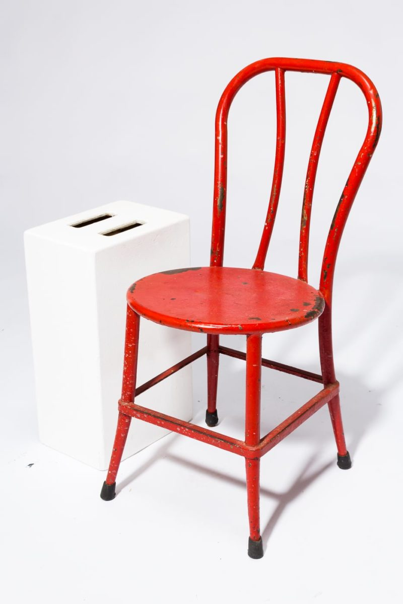 Alternate view 2 of South Distressed Red Metal Chair