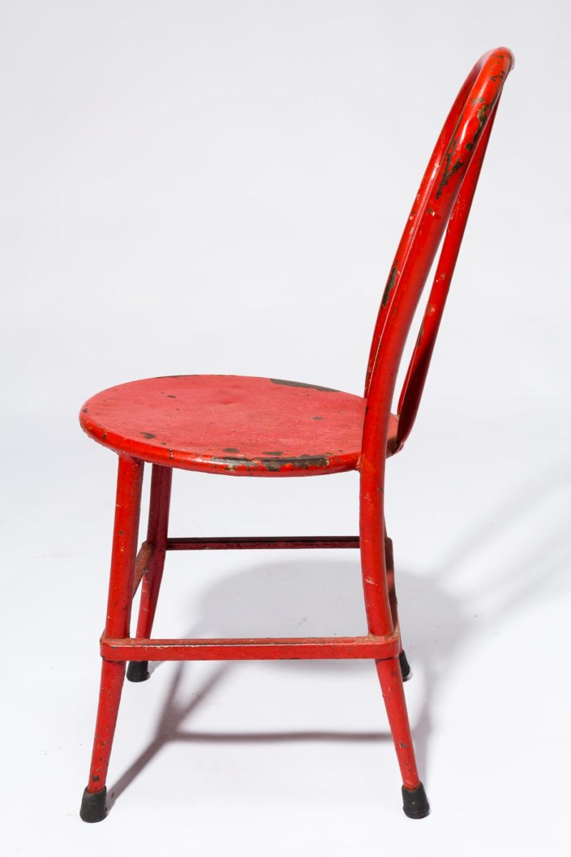 Alternate view 3 of South Distressed Red Metal Chair
