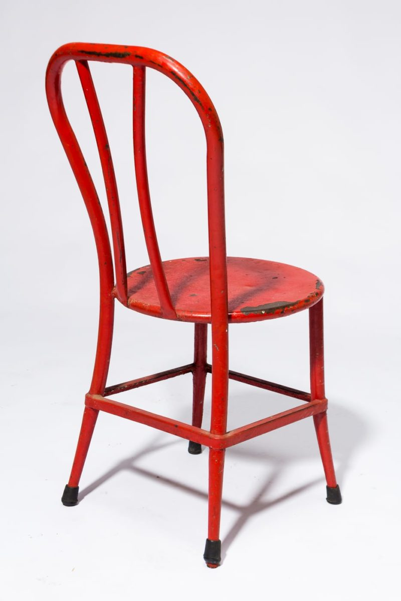 Alternate view 4 of South Distressed Red Metal Chair