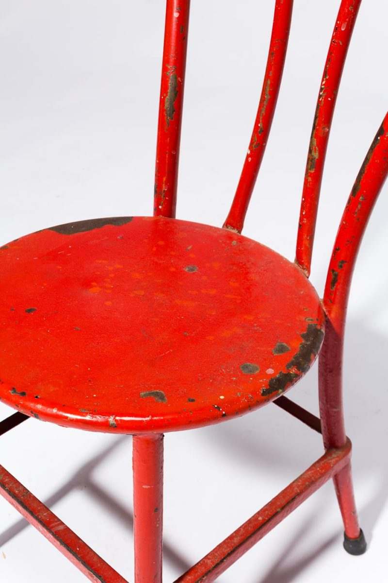Alternate view 1 of South Distressed Red Metal Chair