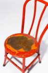 Alternate view thumbnail 1 of North Distressed Red Metal Chair