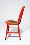 Alternate view thumbnail 2 of North Distressed Red Metal Chair