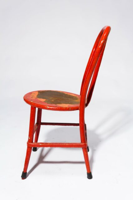 Alternate view 2 of North Distressed Red Metal Chair