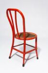 Alternate view thumbnail 3 of North Distressed Red Metal Chair