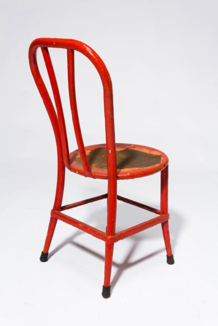 Alternate view 3 of North Distressed Red Metal Chair