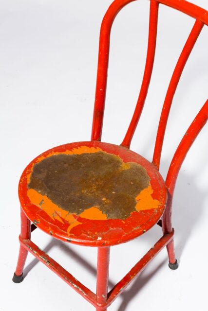 Alternate view 1 of North Distressed Red Metal Chair
