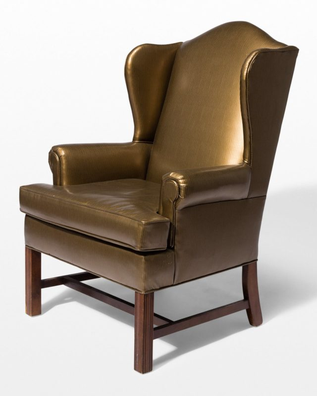 Front view of Flor Bronze Vinyl Chair