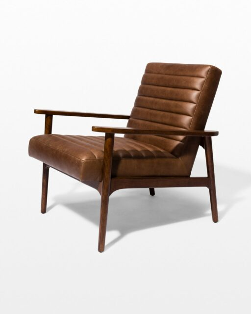 Front view of Mavros Ribbed Leather Chair