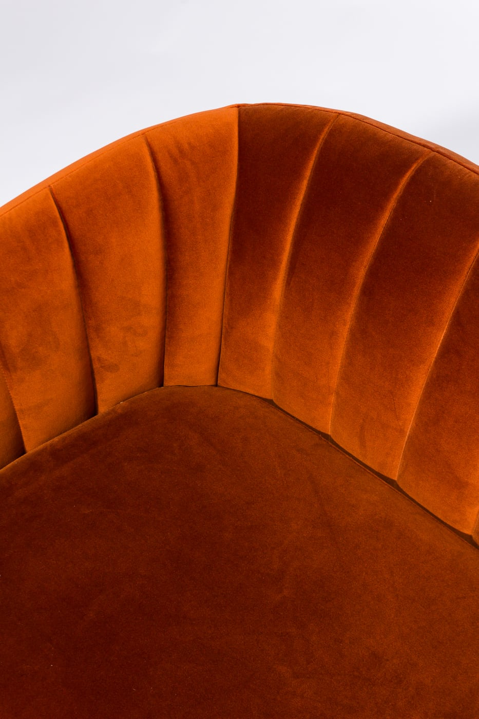 Co065 Vivian Rust Velvet Loveseat Prop Rental Acme Brooklyn
