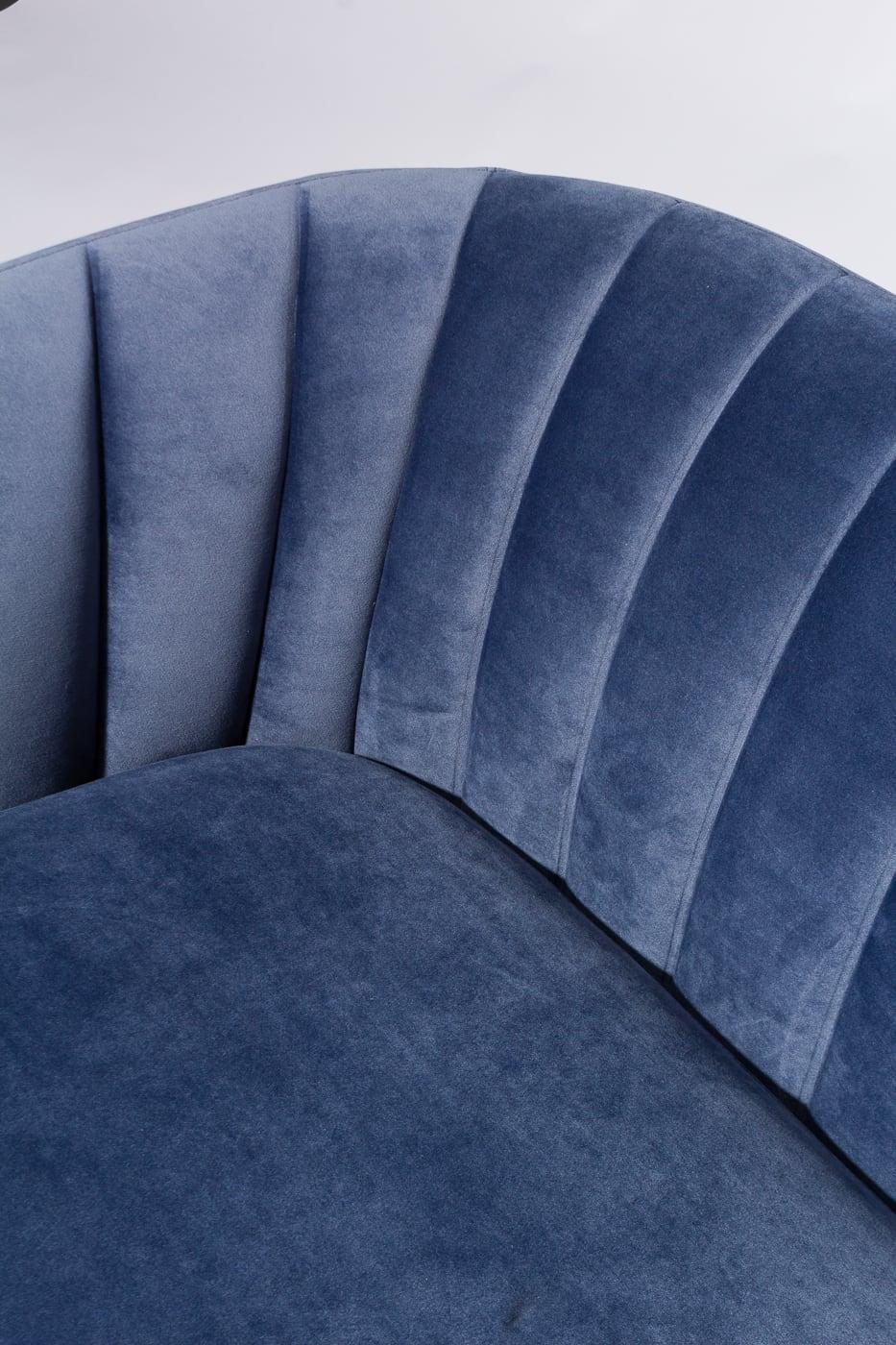 Co067 Lucille Dust Blue Velvet Loveseat Prop Rental Acme