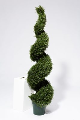 Alternate view 2 of 5' Faux Rosemary Spiral Topiary Tree