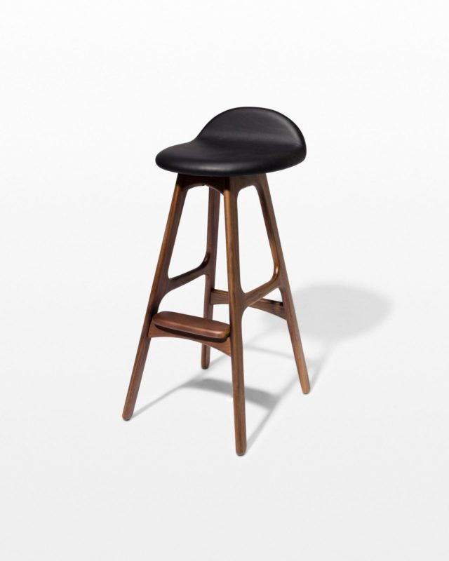 Front view of Buckson Walnut Stool