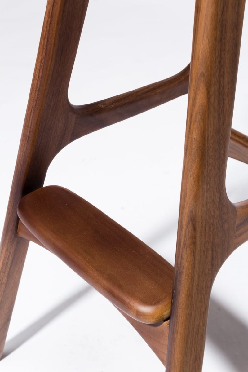 Alternate view 2 of Buckson Walnut Stool