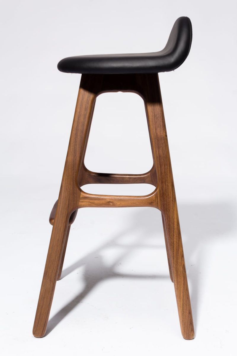 Alternate view 3 of Buckson Walnut Stool