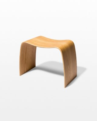 Front view of Bent Natural Plywood Stool