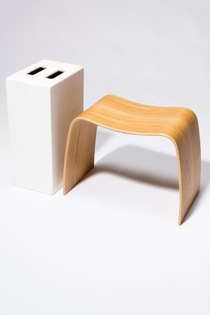 Alternate view 2 of Bent Natural Plywood Stool