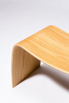 Alternate view 1 of Bent Natural Plywood Stool