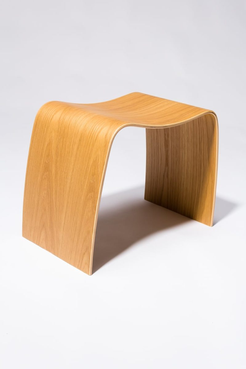 Alternate view 4 of Bent Natural Plywood Stool