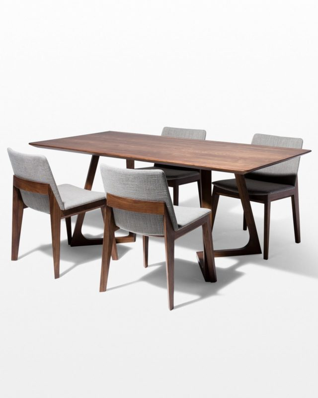 Front view of Axis Dining Table and Chair Set