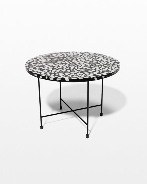 Front view of Memphis Terrazzo Coffee Side Table