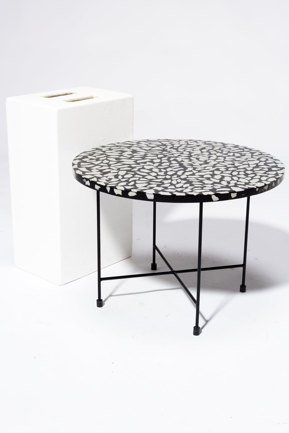 Tb182 Memphis Terrazzo Coffee Side Table Prop Rental