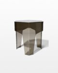 Front view thumbnail of Smoke Hexagon Acrylic Side Table
