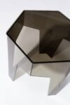 Alternate view thumbnail 1 of Smoke Hexagon Acrylic Side Table