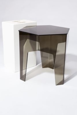 Alternate view 2 of Smoke Hexagon Acrylic Side Table