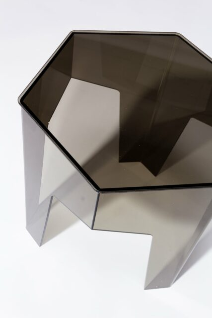Alternate view 1 of Smoke Hexagon Acrylic Side Table