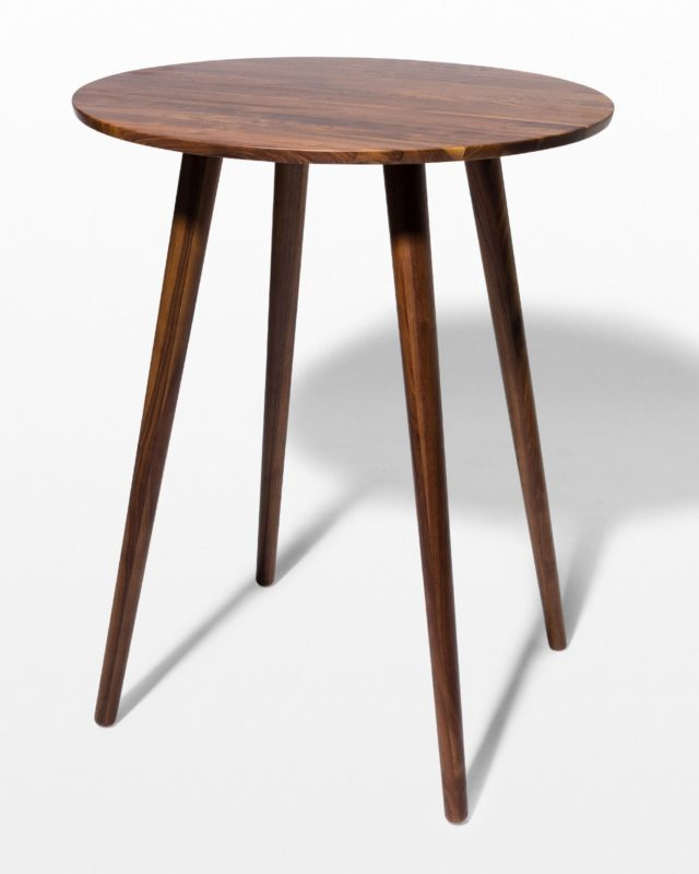 Front view of Tacoma Walnut Bar Table