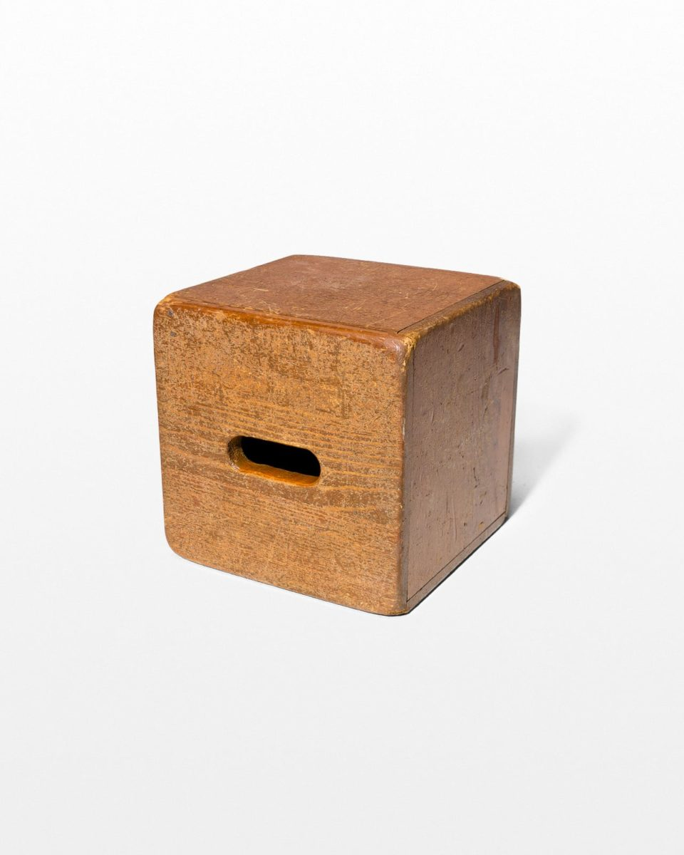 Front view of Custer Wooden Cube