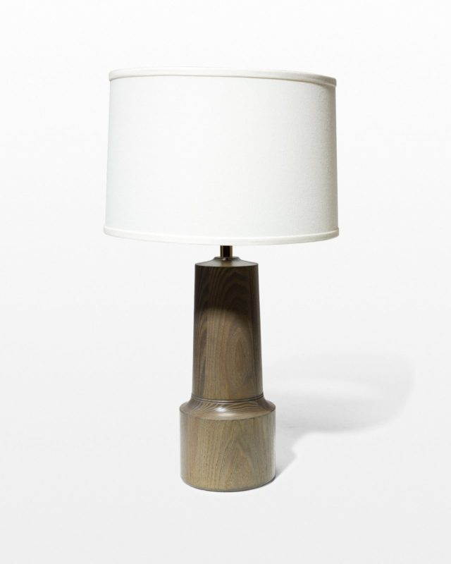 Front view of Spun Wood Lamp