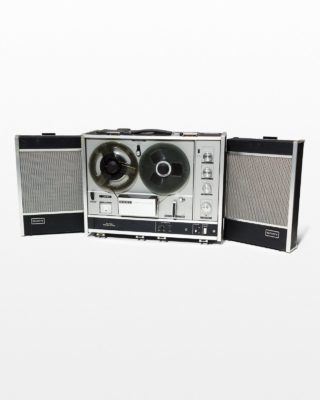 Front view of Wyoming Portable Reel to Reel Tape Recorder