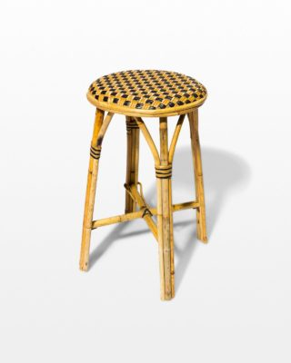 Front view of Checker Bamboo Stool