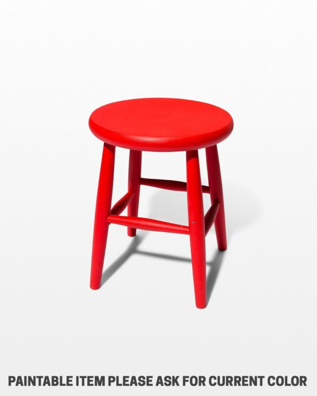 Front view of Reba Low Paintable Stool