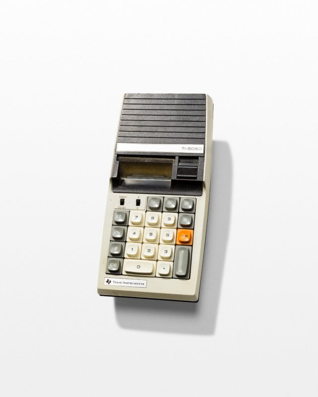 Front view of Pam Portable Print Calculator