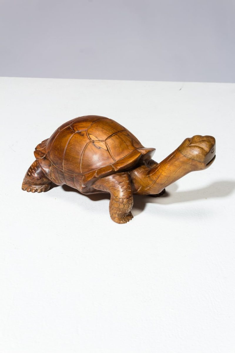 Alternate view 2 of Toni Carved Wooden Turtle