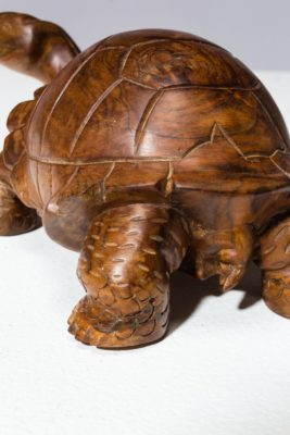Alternate view 3 of Toni Carved Wooden Turtle