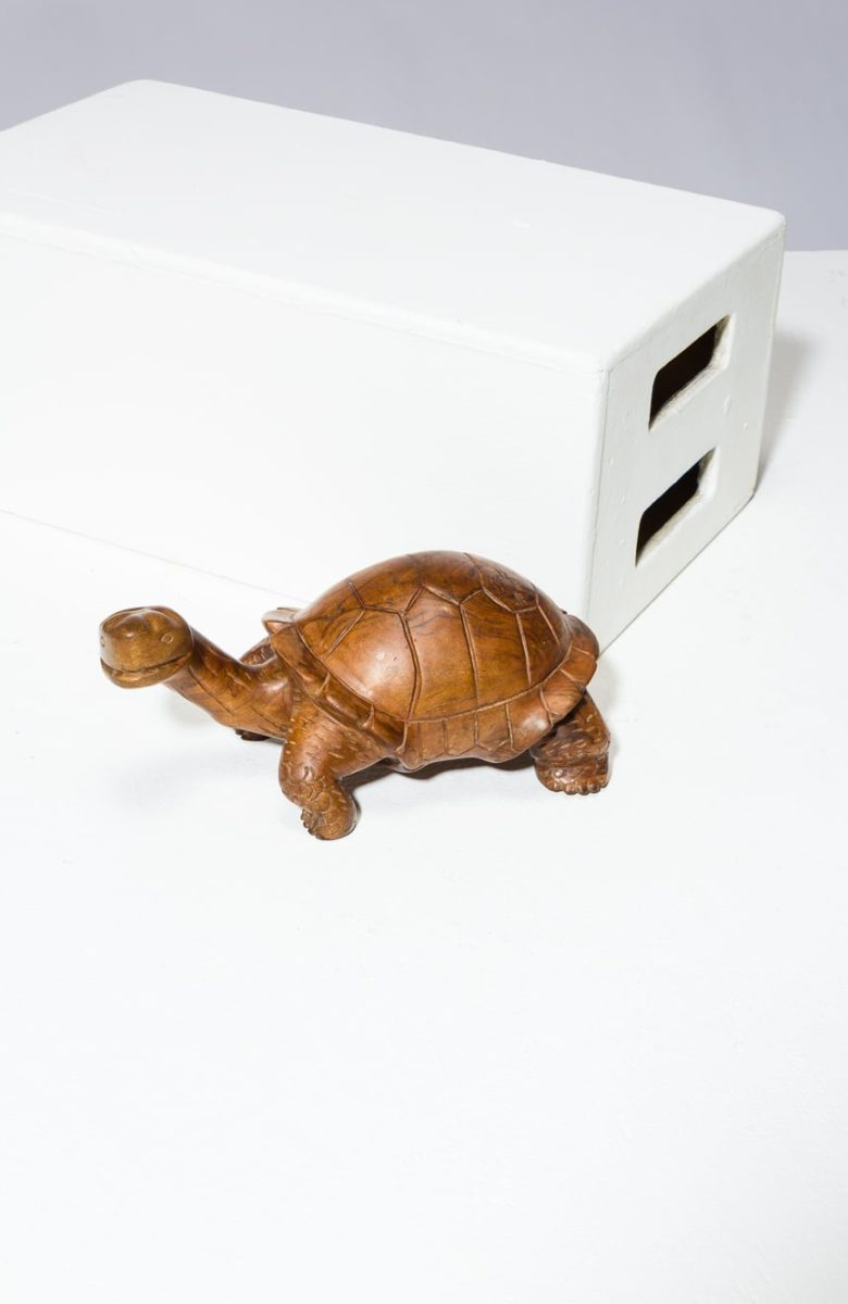 Alternate view 1 of Toni Carved Wooden Turtle