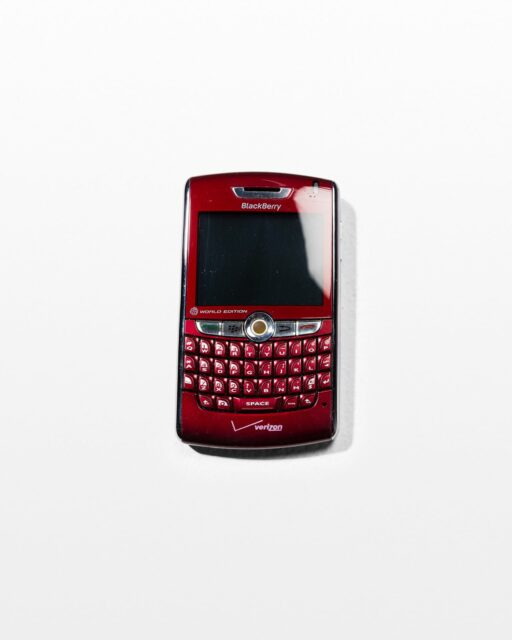 Front view of Red Blackberry Mobile Phone