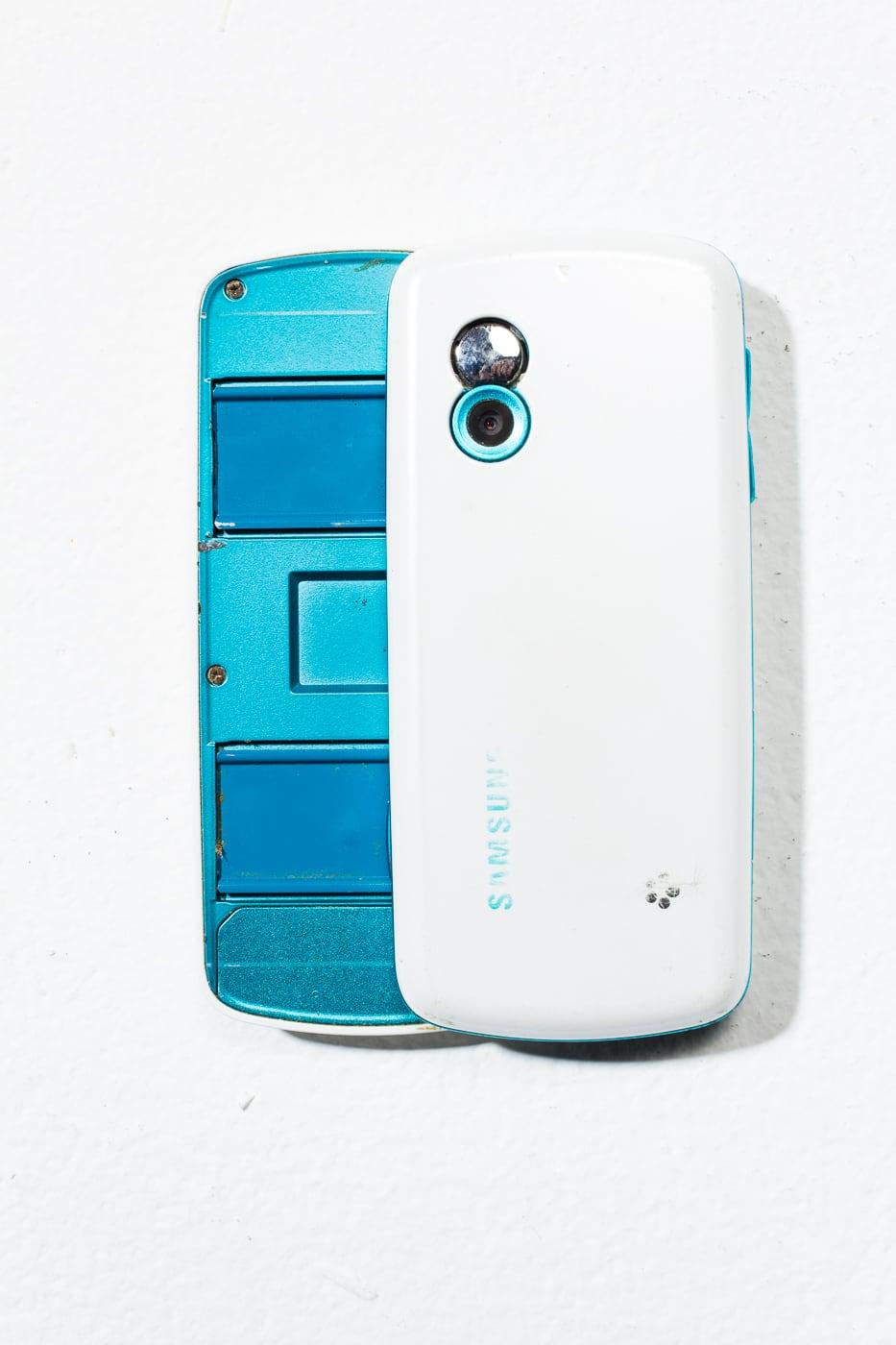 Te063 White Samsung Sliding Keyboard Mobile Phone Prop