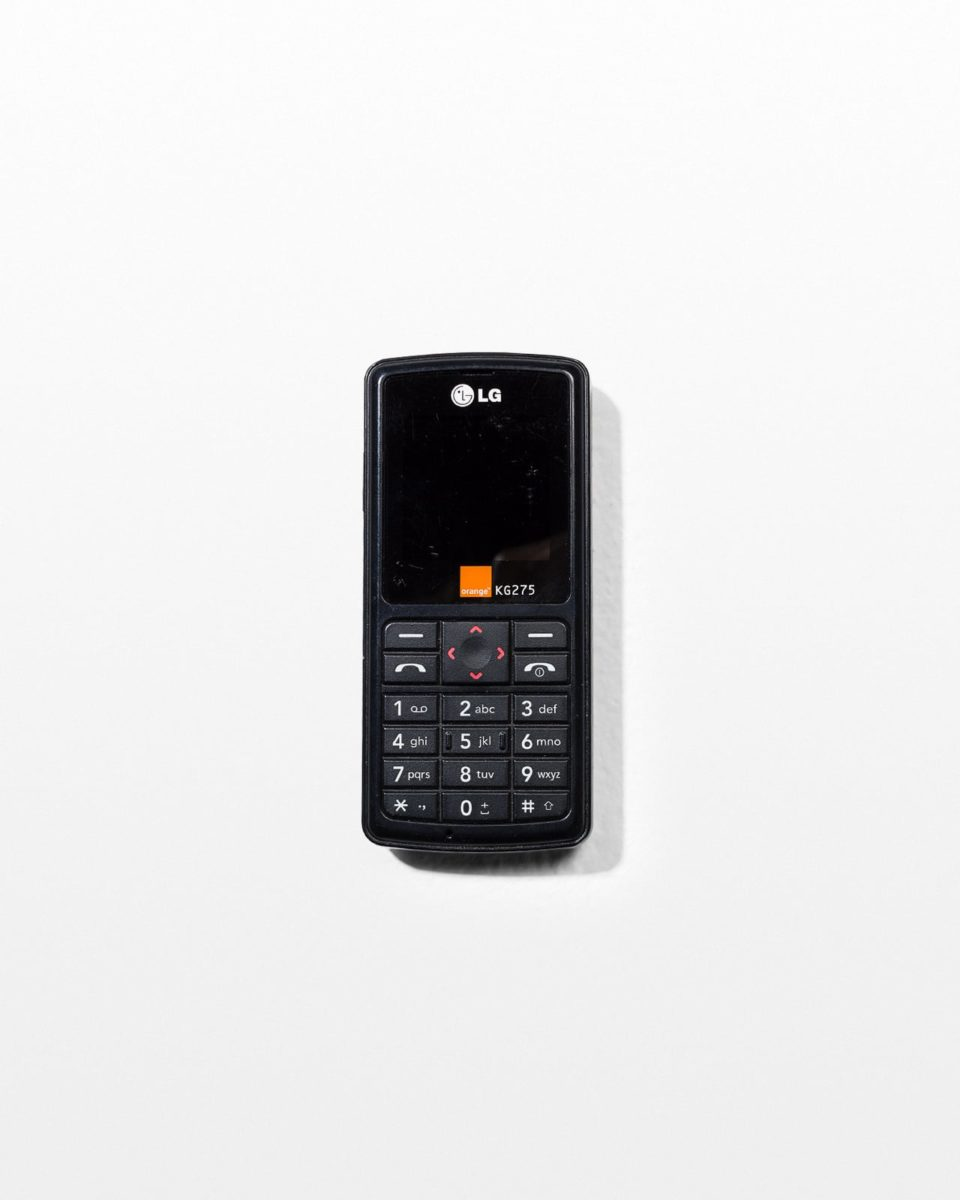 Front view of  LG Orange KG275 Mobile Phone