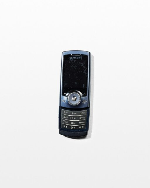 Front view of Samsung Blue Slider Mobile Phone