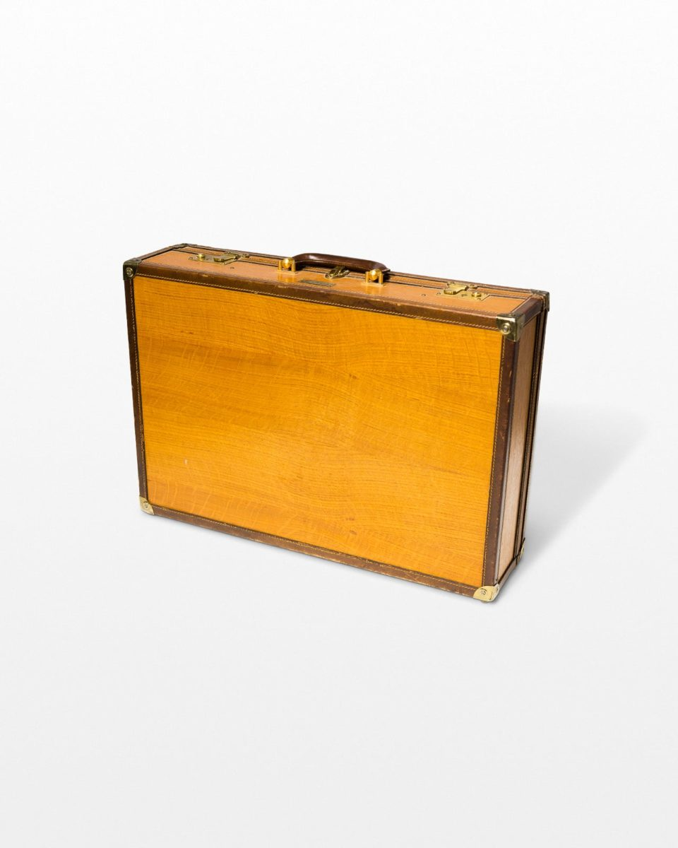 Front view of Fletcher Wooden Luggage