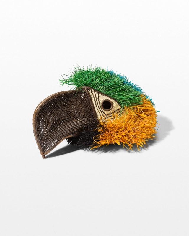 Front view of Parrot Mask Headpiece