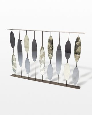Front view of Oval Rod Mirrored Wall Art