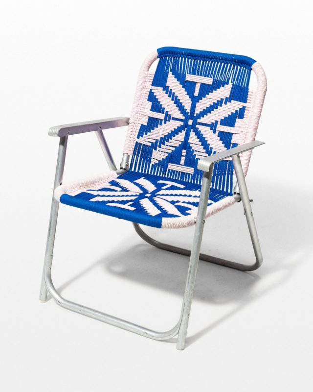 Front view of Vail Macrame Lawn Chair