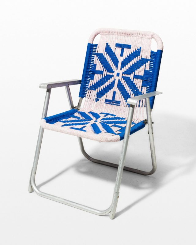 Front view of Aspen Macrame Lawn Chair